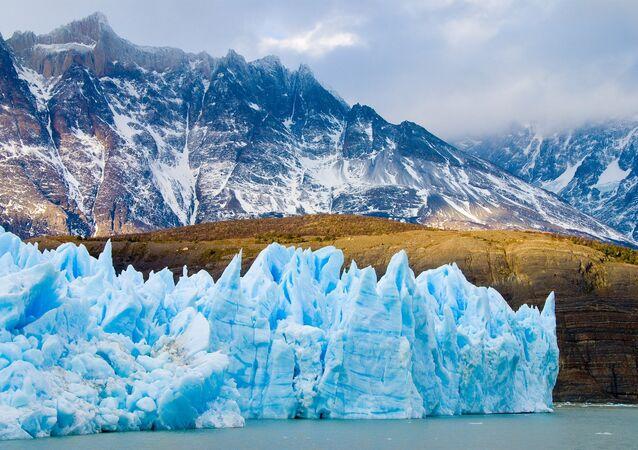 Glaciar Grey no Parque Nacional Torres del Paine, Chile