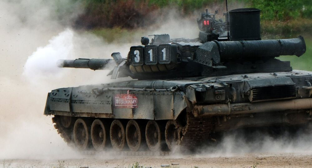 Tanque de fabricação russa T-80U