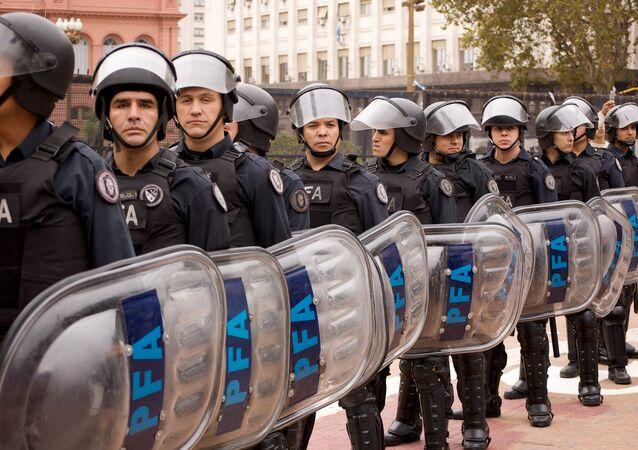 Policiais argentinos