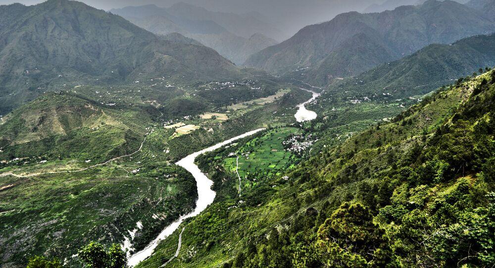 Vale de Sutlej no norte da Índia e Paquistão