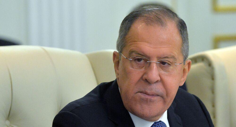 Ministro das Relações Exteriores da Federação da Rússia, Sergei Lavrov, durante cúpula da Organização do Acordo de Segurança Coletiva em Minsk, em 30 de novembro de 2017 (arquivo)