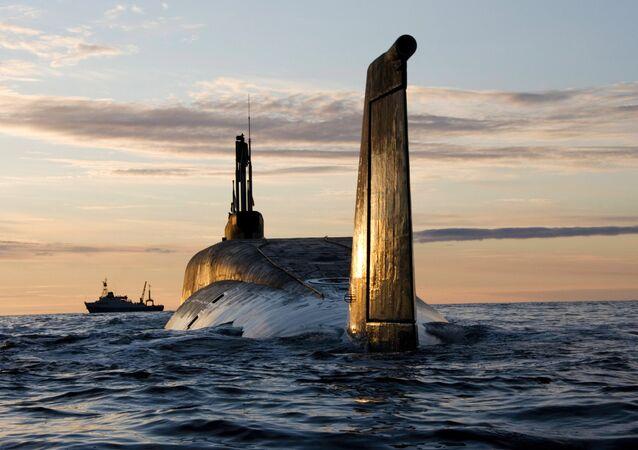 Submarino nuclear russo de classe Borei (foto de arquivo)