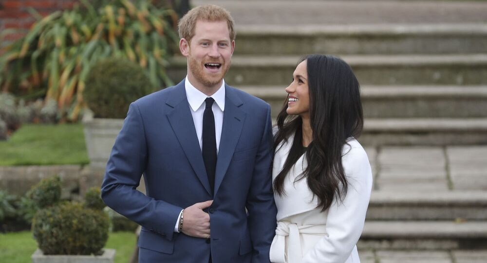 Príncipe Harry com sua futura esposa, a atriz norte-americana, Meghan Markle